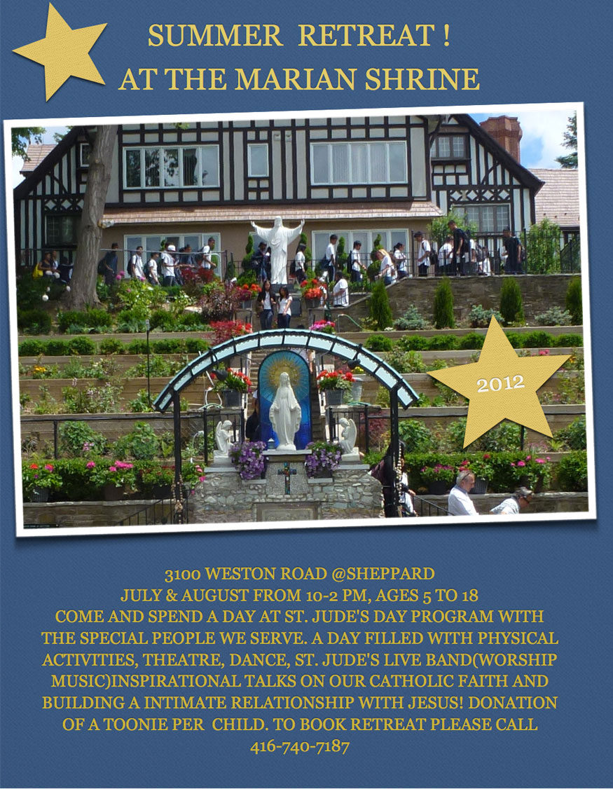 Summer Retreat at the Marian Shrine